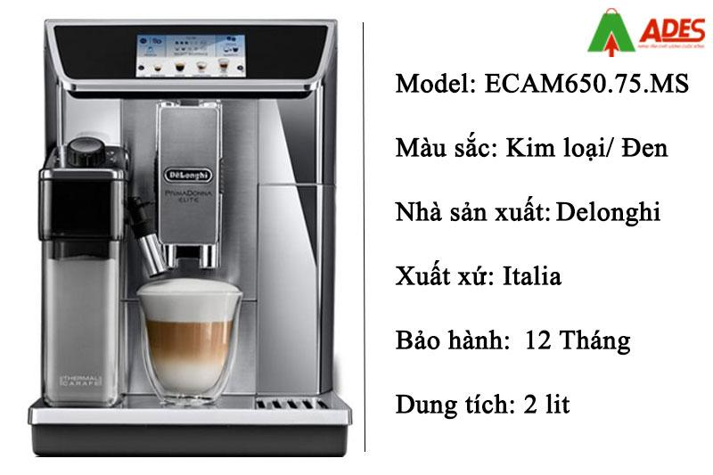 May pha ca phe Delonghi ECAM650.75.MS